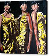 Original Divas The Supremes Canvas Print by Ronald Young