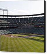 Oriole Park At Camden Yards Canvas Print by Darleen Stry
