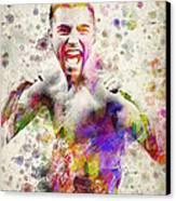Oscar De La Hoya Canvas Print by Aged Pixel