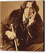 Oscar Wilde 1882 Canvas Print by Napoleon Sarony