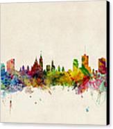 Ottawa Skyline Canvas Print by Michael Tompsett