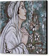 Our Lady Of Mental Peace Canvas Print by Rain Ririn