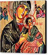 Our Lady Of Perpetual Help Icon Canvas Print by Ryszard Sleczka