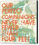 Our Perfect Companion Canvas Print by Debbie DeWitt