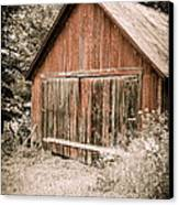 Out By The Woodshed Canvas Print by Edward Fielding