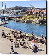 Outdoor Cafe Wellington New Zealand Canvas Print by Colin and Linda McKie