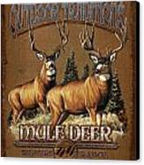 Outdoor Traditions Mule Deer Canvas Print by JQ Licensing