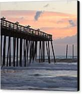 Outer Banks Sunrise Canvas Print by Adam Romanowicz