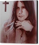 'ozzy Osbourne' Canvas Print by Christian Chapman Art