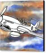 P-40 Warhawk 1 Canvas Print by Scott Nelson