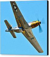 P-51 Mustang Wing Over Canvas Print by Puget  Exposure