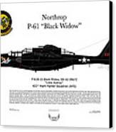 P-61b Black Widow Canvas Print by Arthur Eggers