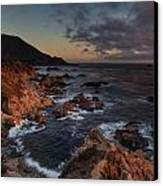 Pacific Coast Golden Light Canvas Print by Mike Reid