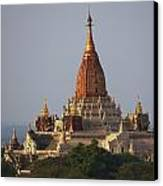 Pagoda In Bagan, Upper Burma Myanmar Canvas Print by Chris Caldicott