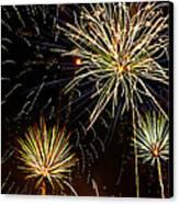 Paint The Sky With Fireworks  Canvas Print by Saija  Lehtonen