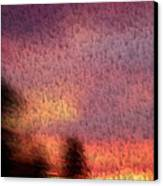 Painted Evening Canvas Print by Kevin Bone