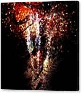 Painted Fireworks Canvas Print by Andrea Barbieri