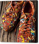 Painted Tennis Shoes Canvas Print by Garry Gay