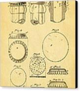 Painter Bottle Cap Patent Art 1892 Canvas Print by Ian Monk