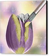 Painting A Tulip Canvas Print by Amanda And Christopher Elwell