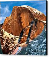 Painting Half Dome Yosemite N P Canvas Print by Bob and Nadine Johnston