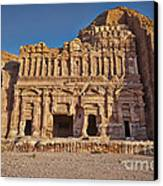 Palace Tombin Nabataean Ancient Town Petra Canvas Print by Juergen Ritterbach