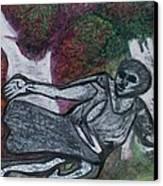 Paleolithic Era Man Canvas Print by Jonathon Hansen