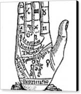 Palmistry Chart, 1885 Canvas Print by Granger