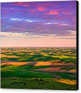 Palouse Land And Sky Canvas Print by Inge Johnsson