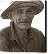 Panamanian Country Man Canvas Print by Heiko Koehrer-Wagner