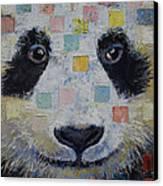 Panda Checkers Canvas Print by Michael Creese