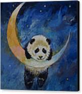 Panda Stars Canvas Print by Michael Creese