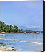 Panorama Of Pacific Coast On Vancouver Island Canvas Print by Elena Elisseeva