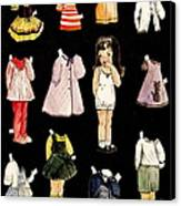 Paper Doll Amy Canvas Print by Marilyn Smith