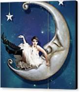 Paper Moon Canvas Print by Linda Lees