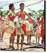 Papua New Guinea Cultural Show Canvas Print by Carol Mallillin-Tsiatsios