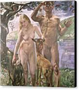 Paradise Canvas Print by Lovis Corinth