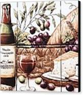 Pardo Vineyards Wine And Cheese Canvas Print by Julia Sweda
