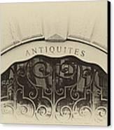 Paris Antique Store Sign Canvas Print by Tony Grider