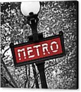 Paris Metro Canvas Print by Elena Elisseeva
