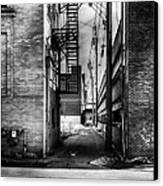 Park Alley Sunset Canvas Print by Bob Orsillo