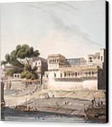 Part Of The City Of Patna, On The River Canvas Print by Thomas Daniell