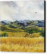 Patagonia Just Down The Valley Canvas Print by Summer Celeste