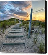 Path Over The Dunes Canvas Print by Sebastian Musial