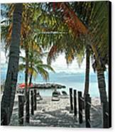 Path To Smathers Beach - Key West Canvas Print by Frank Mari