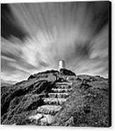 Path To Twr Mawr Lighthouse Canvas Print by Dave Bowman