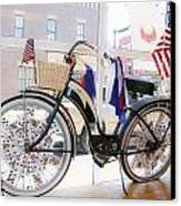 Patriotic Bicycle Canvas Print by Cindy Archbell