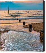 Patterns On The Beach  Canvas Print by Adrian Evans