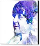 Paul Mccartney  Canvas Print by Mike Maher