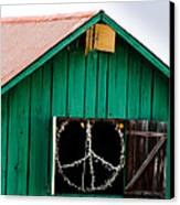 Peace Barn Canvas Print by Bill Gallagher
